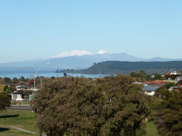 A view looking south to Lake Taupo.