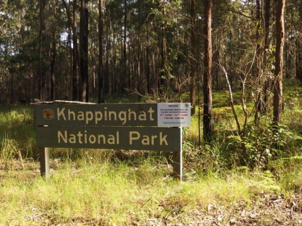 Entering Khappinghat National Park on Old Soldier Road.