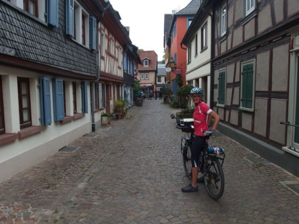 Cycling through old villages.