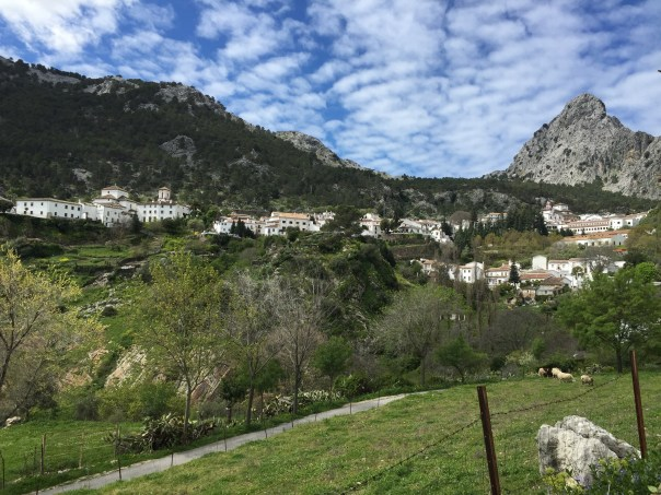 Our first view of Grazalema.