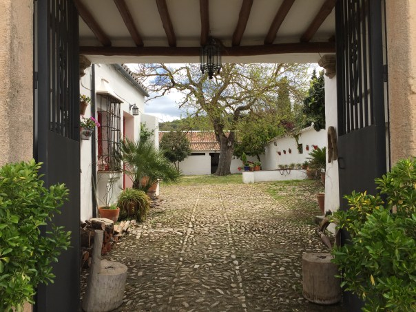 Entrance to the hotel Cortijo Piletas.