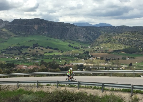 Climbing another hill towards Ronda.