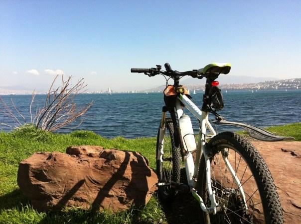 The view of the Aegean Sea on my Bike to Work near Izmir, Turkey
