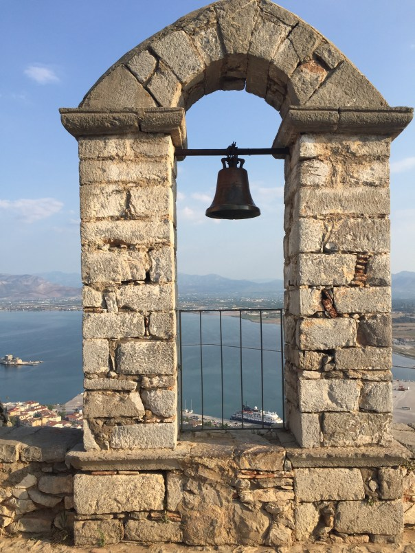 Looking out from Palamidi Fortress to Nafplio.