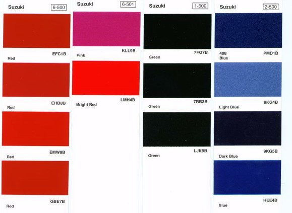 Suzuki Motorcycle Paint Colour Codes Blue Code Newmotorwall Org