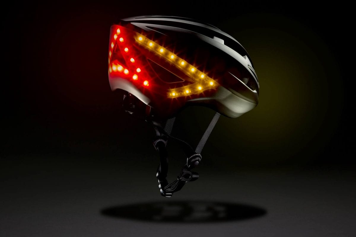 Lumos Helmet With Built In Indicator And Brake Lights Cycled