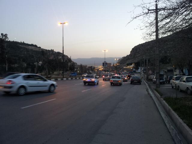 Finally Shiraz lies below in the distance.