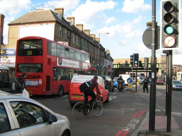 Seven Sisters Road northbound approaching Finsbury Park