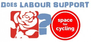 No Labour candididates in Islington have signed up to support Space for Cycling. This makes their Manifesto look like empty promises.