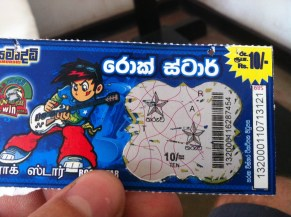 first and last scratch card in Sri Lanka... and i won!!! 5p