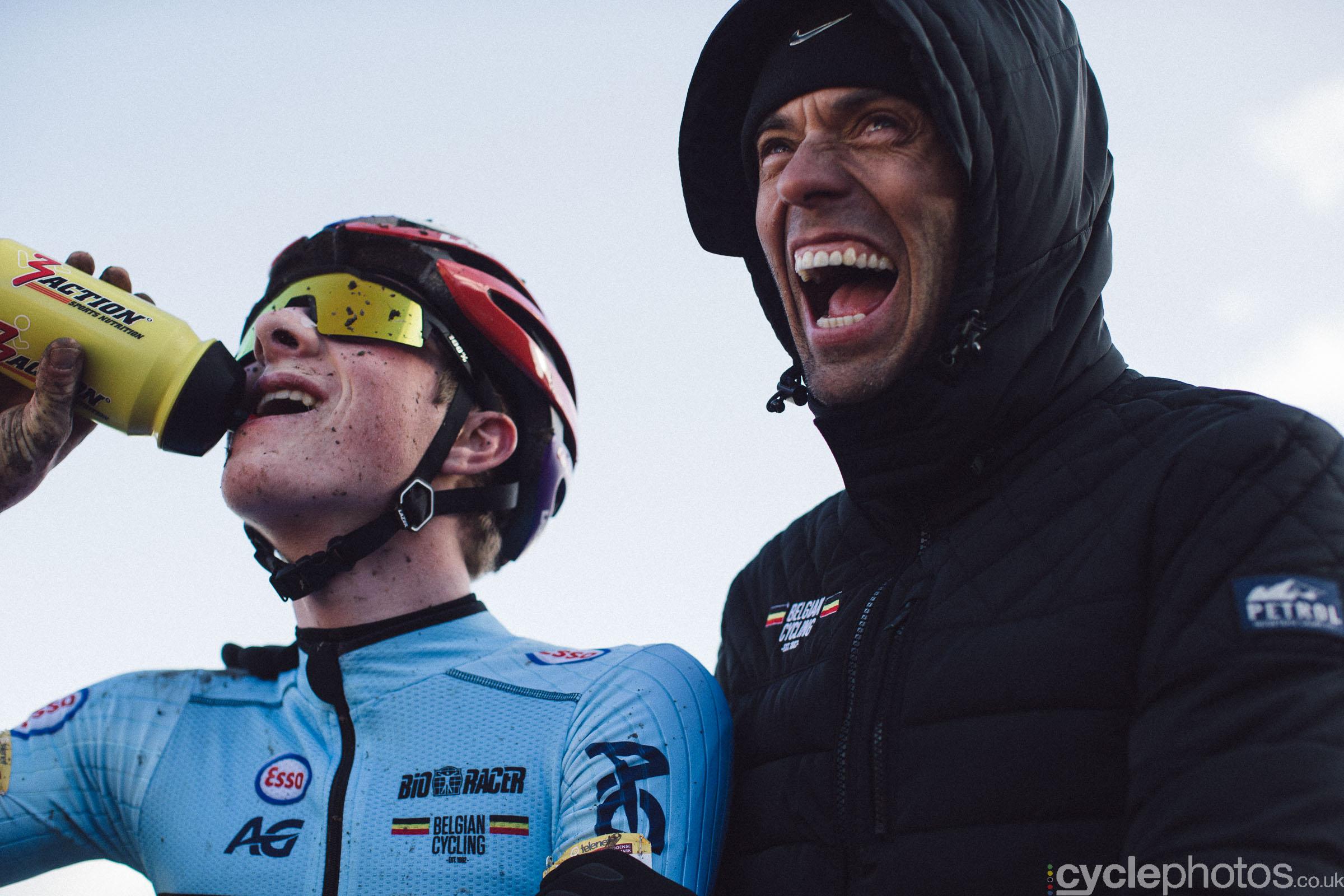 Toon Vandebosch and Sven Vanthourenhout at UCI Cyclocross World Cup #4 - Bogense, DEN