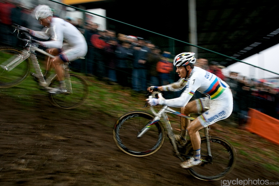 I've been photographing cyclo-cross for a while now but it still amazes me how these guys power up on muddy and steep ascents. My jaw drops every single time.