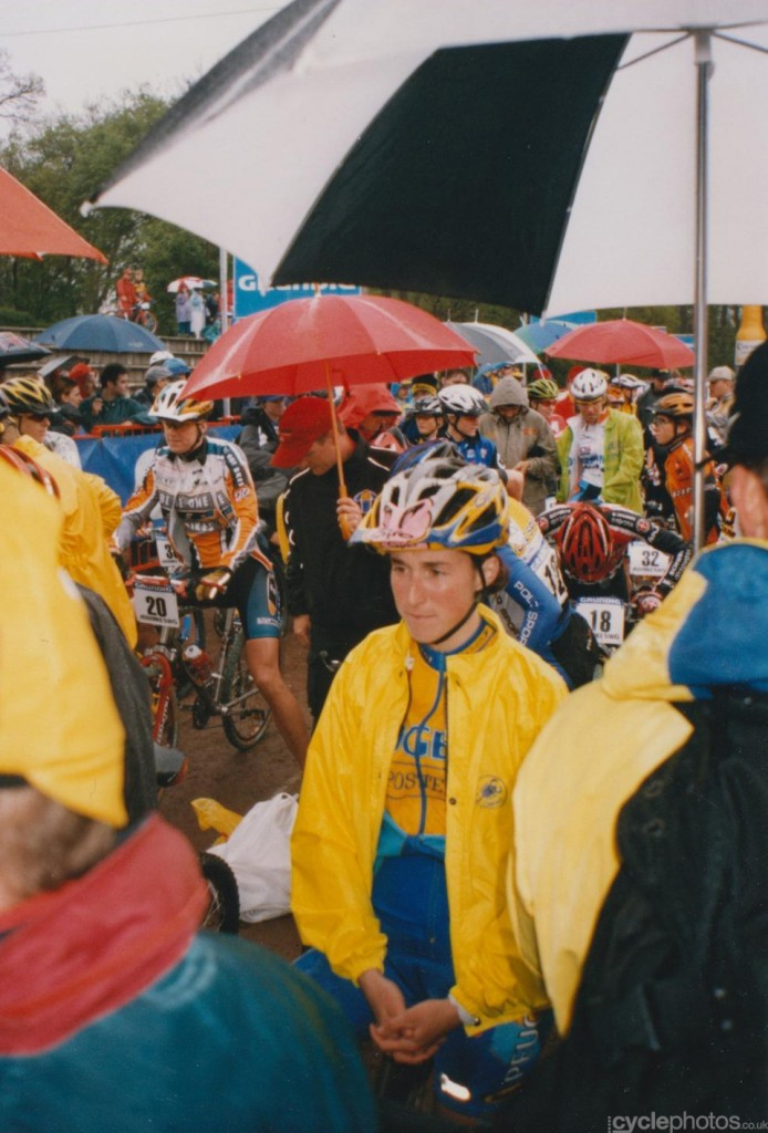 Laurence Leboucher prepares for the women's race