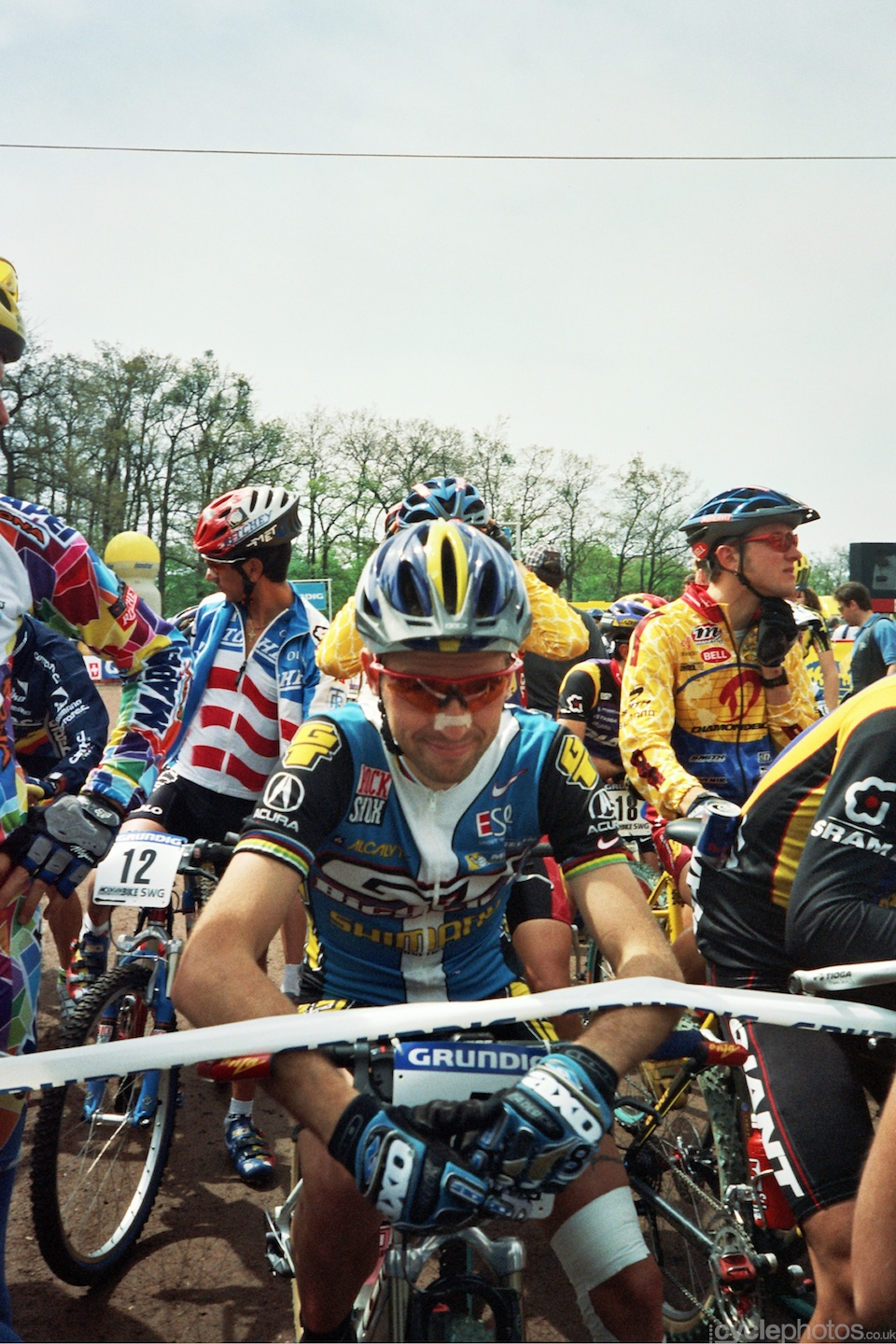 Jerome Chiotti smiles at me. Note Costa Rican Jose Andres Brenes on the left in Ritchey kit.