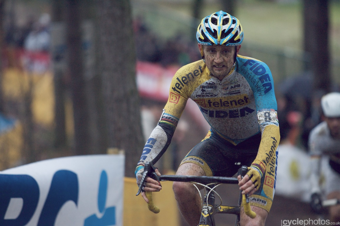 Managed to catch Bart Wellens in the middle of shifting gears