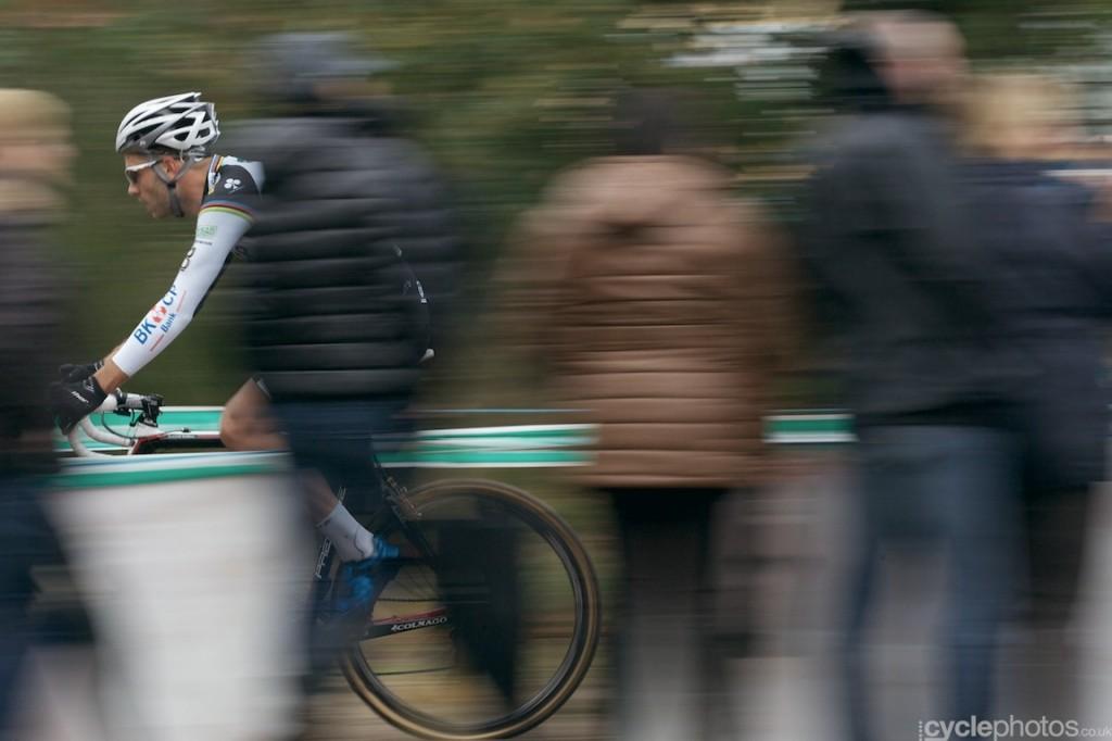 Niels Albert rides in the second lap of the elite men's Superprestige cyclocross race in Zonhoven.