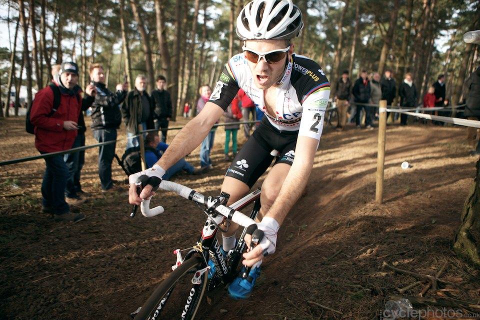 Niels Albert. 2014 cyclocross Bpost Bank Trofee #8, Oostmalle. Copyright by cyclephotos.