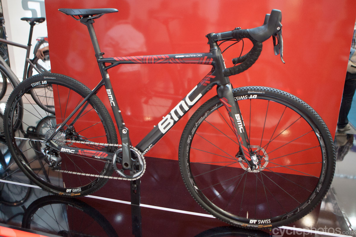 2015 BMC CrossMachine CX01 at the 2014 Eurobike Bike show in Friedrichshafen, Germany.