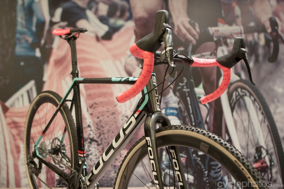 The 2015 Focus Mares CX 01 at the 2014 Eurobike Bike show in Friedrichshafen, Germany.
