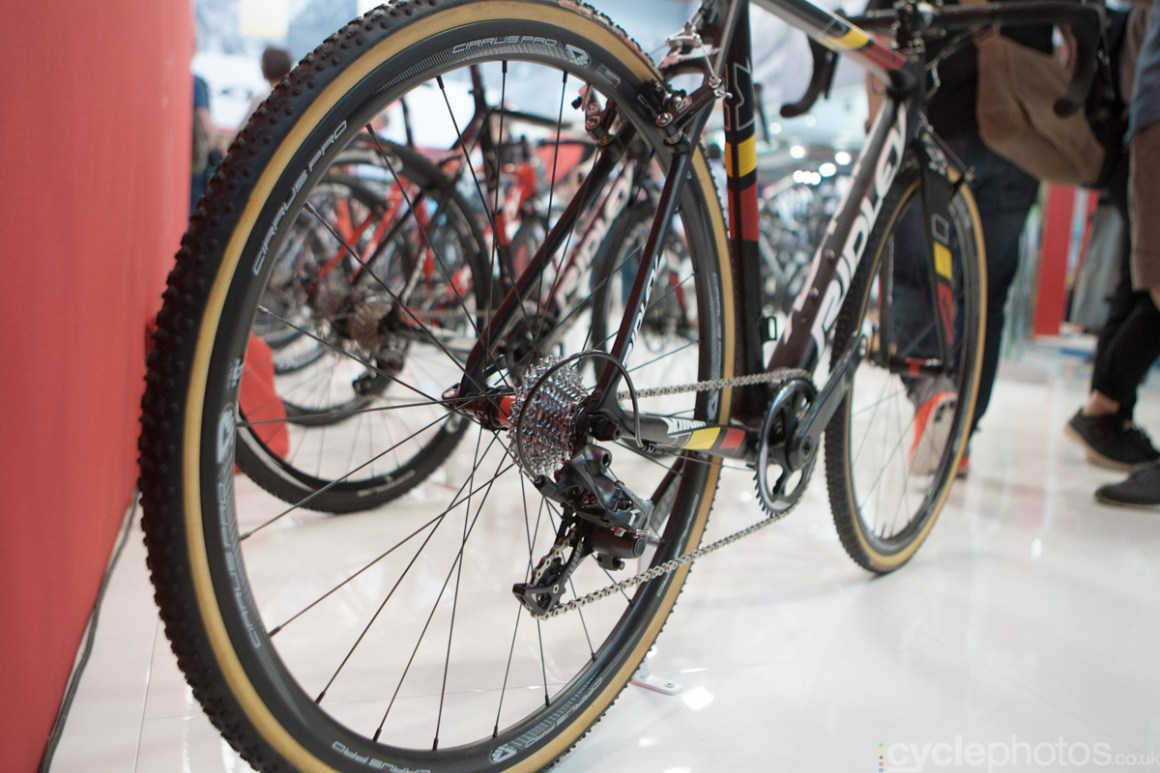 2015 Ridley X-Night cyclocross bike at the 2014 Eurobike Bike show in Friedrichshafen, Germany.