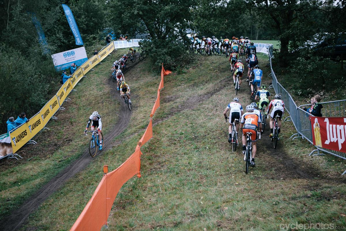 The start of the Superprestige cyclocross race in Gieten, in 2014. Photo by Balint Hamvas / cyclephotos.co.uk