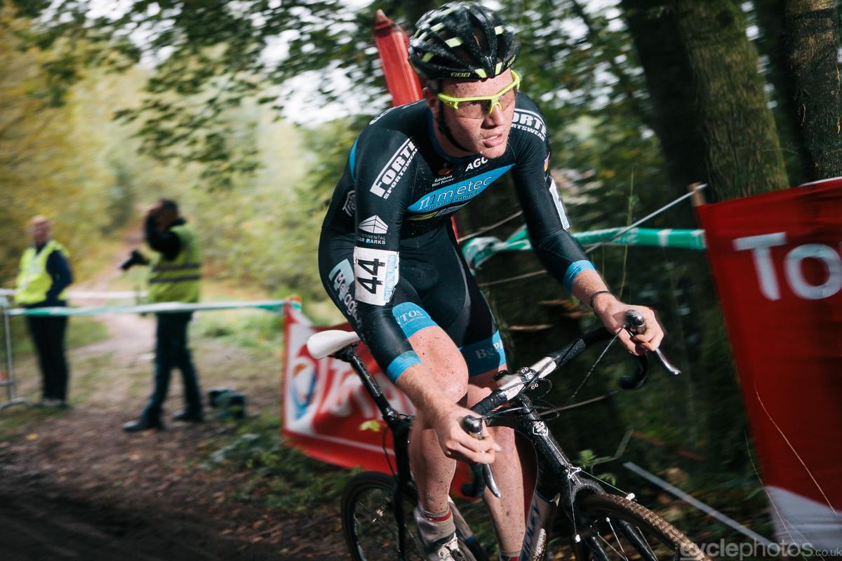 Tijmen Eising rides in the third lap of the Superprestige cyclocross race in Gieten, in 2014. Photo by Balint Hamvas / cyclephotos.co.uk