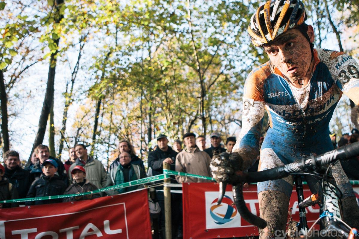 2012 - Moments before Michiel van der Heijden almost crashed into me.