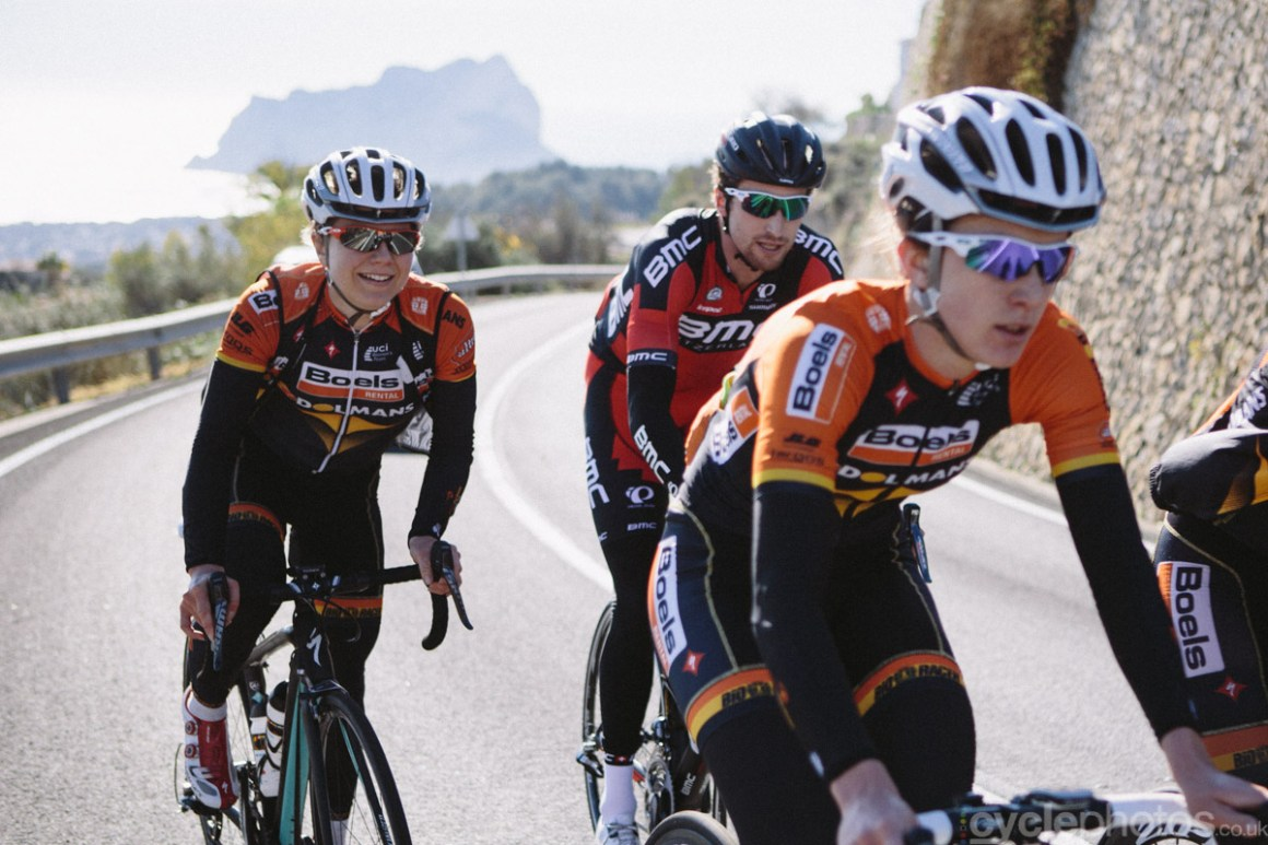 A pleasant and important trip in December: to shoot the training camp of Boels-Dolmans team. As I will be shooting a whole lot more women's road racing in 2015, it was a great opportunity to meet the riders and learn more about the whole scene. Note Taylor Phinney's excellent photobombing skills.