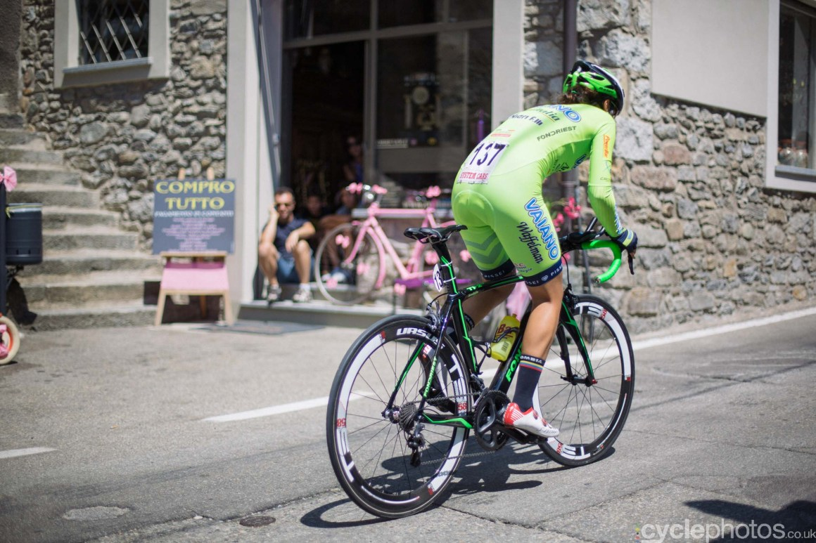 Jessica Parra during the 8th Stage of the 2015 Giro Rosa