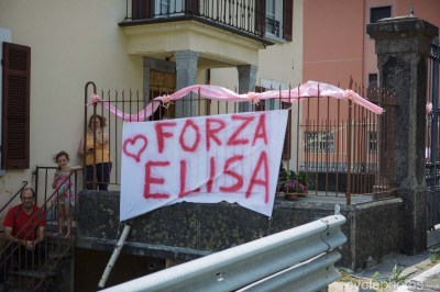 Eliza Longo-Borghini supporters during the 9th stage of the 2015 Giro Rosa