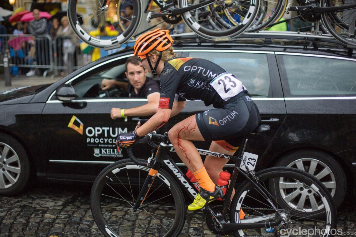Ariane Horbach during the 2015 edition of the La Course by Le Tour women's road cycling race.