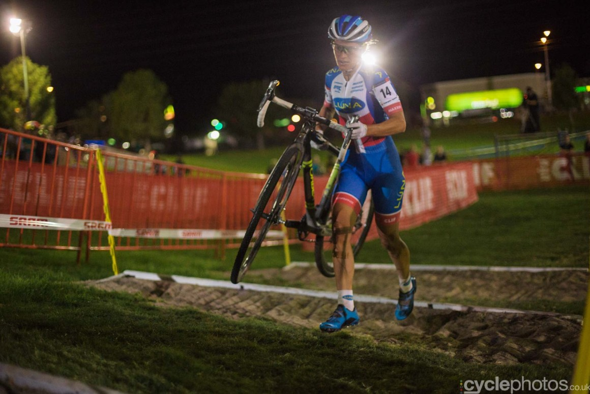 Katerina Nash during Crossvegas, the first round of the 2015 UCI Cyclocross World race in Las Vegas, USA.