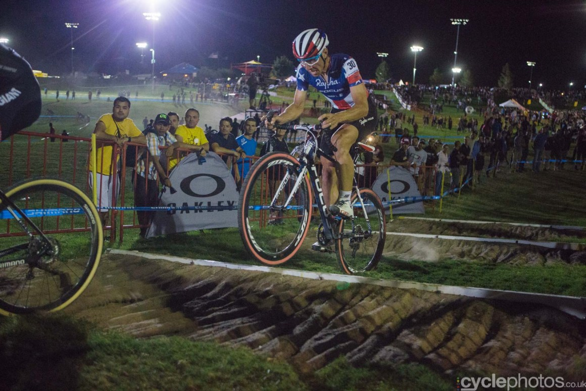 Jeremy Powers during Crossvegas, the first round of the 2015 UCI Cyclocross World race in Las Vegas, USA.