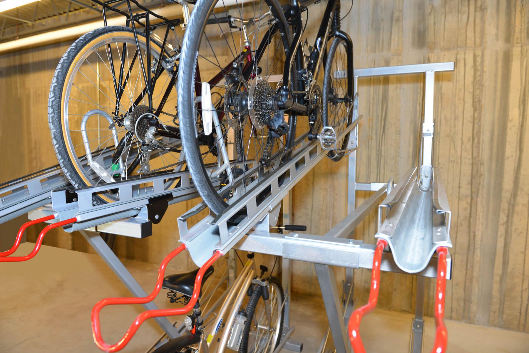 2 tier quad hi density bike rack