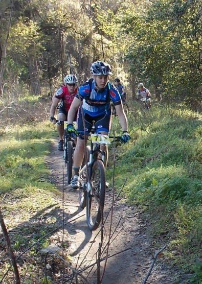 Leading the field at Santos trails in Ocala, FL