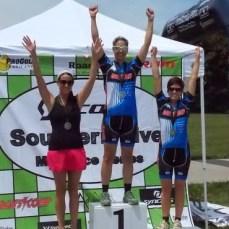 (left) Team Adventure rider Amy Kruger 3rd, (right) Dan's Comp teammate Lauren Hoover