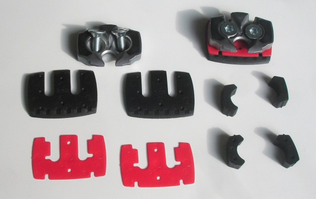LooK S-Track cleats and shims and spare bumpers