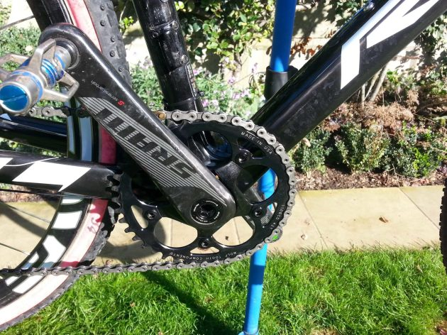 SRAM Red 22 crankset but with single chainring set-up...