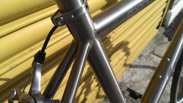 Visible welds speak volumes as to this bike's purpose