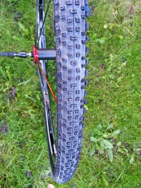 Schwalbe Racing Ralph fitted to a wheel