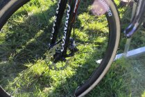 Photos not clear but these are Shimano disc brakes