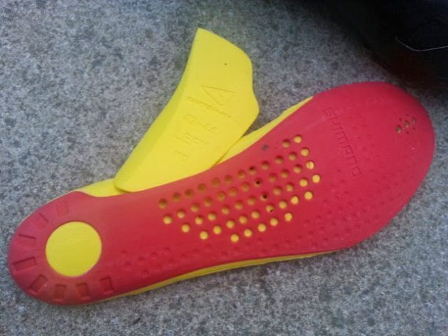Shimano XC90's heat mouldable insole and arch supports