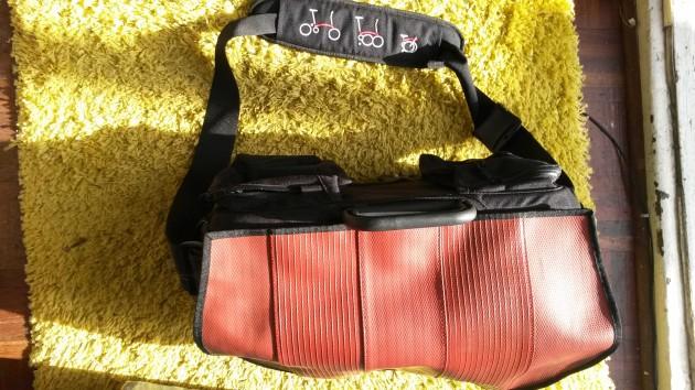 Brompton S-bag with red premium flap
