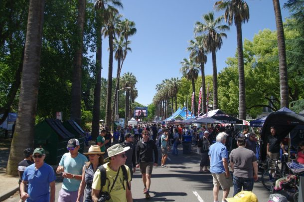 Amgen Tour of California's Lifestyle Festival - packed with people all day