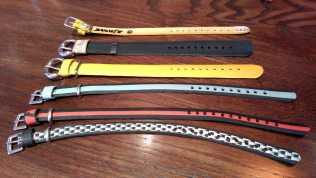 Buckit offer a range of wrist belts, which could also double as watch straps or cat collars!