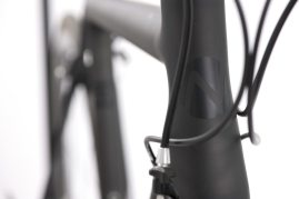Tapered headtube for stability and strength at the front end