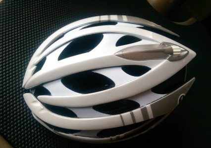 The LifeBEAM helmet is a Lazer Genesis helmet with a few additions...