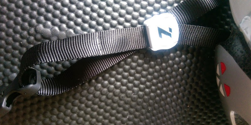Strap adjustment is by way of snap fastenings similar to most helmets