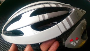Side view of all Lazer helmets is quite unique with front designed to be worn low on forehead