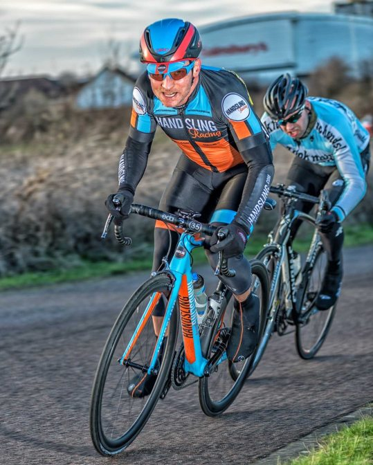 In action with my new Giro Air Attack (otherwise known as the gratuitous self-promotional shot)